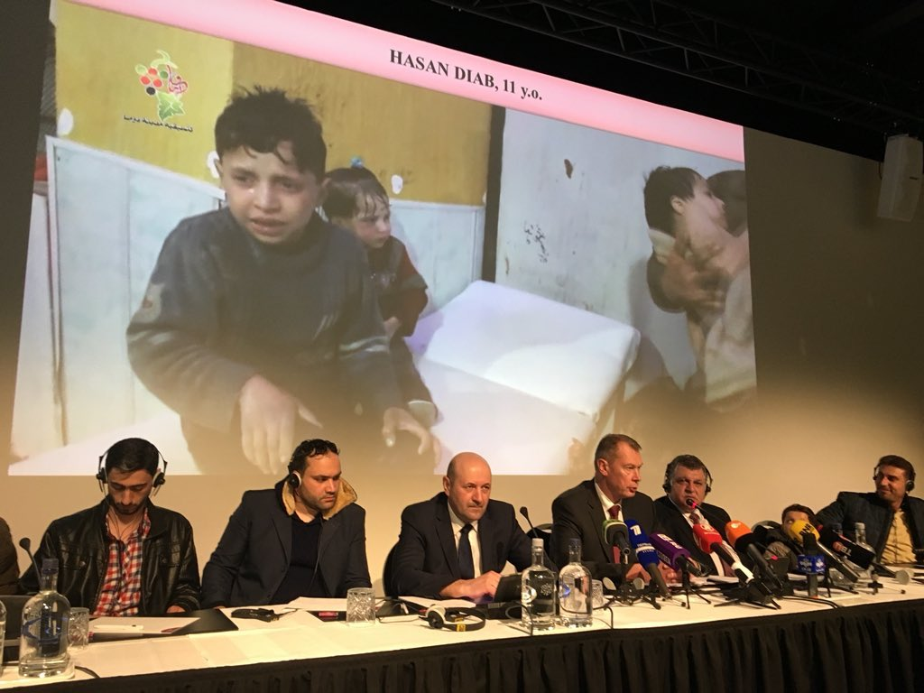 The Russian Govt introduced the world to 11-year-old Hassan as 'proof' that alleged #Douma chemical attack was staged. But how could they explain the videos of the dead? They can't be shown on TV, aiding Russia's narrative. Links to them at bottom of this https://t.co/UcyGaSPLqR
