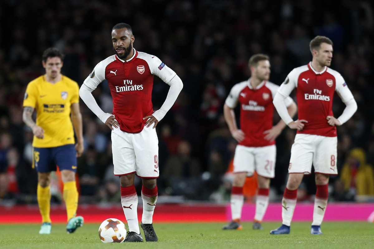 Every single outfield Arsenal player on the pitch created at least once chance vs. Atlético Madrid.  Lacazette (5) Özil (5) Welbeck (3) Xhaka (3) Wilshere (2) Koscielny (1) Ramsey (1) Monreal (1) Bellerín (1) Mustafi (1)  24 in total. One goal to show for it. 🙃