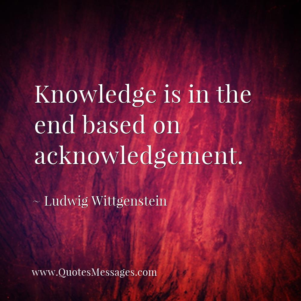 stream of quotes on twitter knowledge is in the end based on