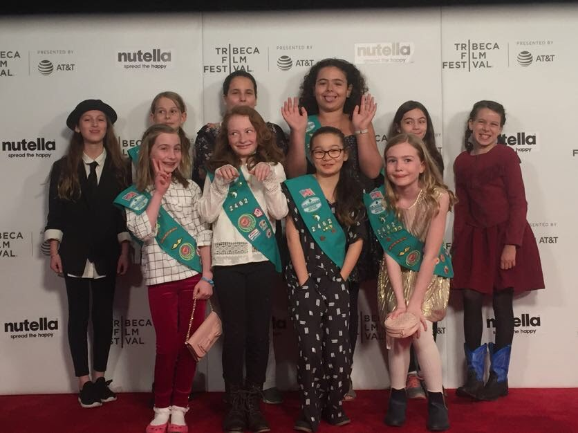 "#TBT to this weekend, when Girl Scout Troop 2462 shared their short film ""Women through the eyes of the world"" at @Tribeca! They crafted the film at a pop-up Film Camp this Fall and we couldn't be more proud to have fostered such a cool, important project!"