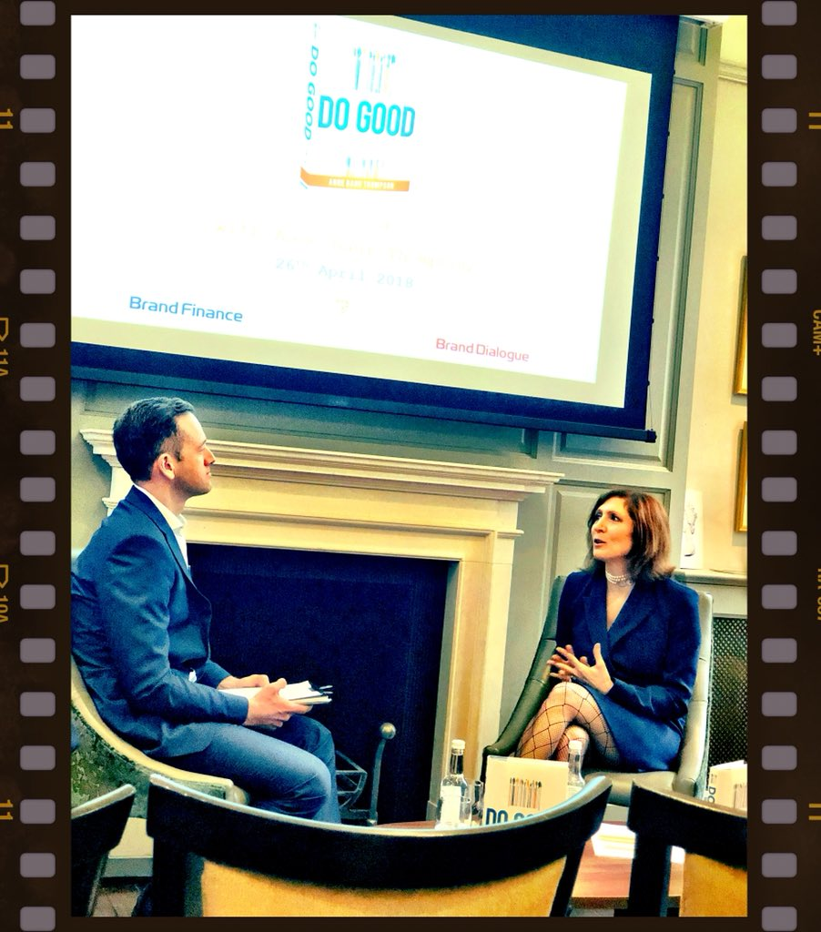 Super to see @annebt talking about corporate citizenship, #purpose and #profit &amp; her book 'Do Good' @BrandExchangeUK tonight.  https://www. amazon.co.uk/DO-GOOD-THOMPS ON/dp/0814438393/ref=nodl_ &nbsp; … <br>http://pic.twitter.com/tkdLQHT0r7