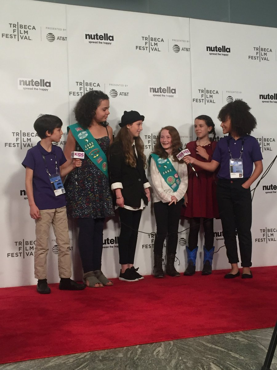 "Overheard on the red carpet: ""As a Girl Scout troop, we want to change the world and make sure women are equal to men. So we made a stop-motion film to talk about the ways the world sees women and the stereotypes we face."" Learn more about Film Camp here: bit.ly/2r7QPBp"