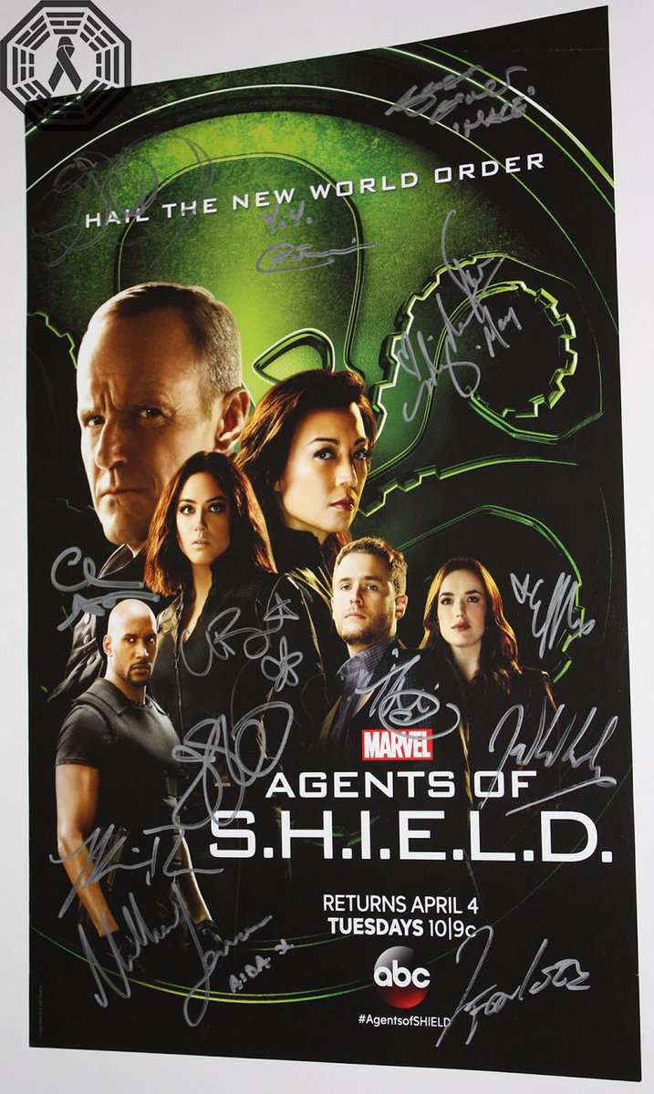 We have an amazing #Marvel #AgentsOfSHIELD poster signed by 13 in our online charity auction, opening July 1. Thank you @clarkgregg @MingNa @ChloeBennet4 @Lil_Henstridge @YOSOYCORDOVA @jason_omara @MalloryJansen @MoTancharoen @jedwhedon Iain D, Henry S, Jeph L and Jeffrey B! #AoS<br>http://pic.twitter.com/0TFooPnZJ6