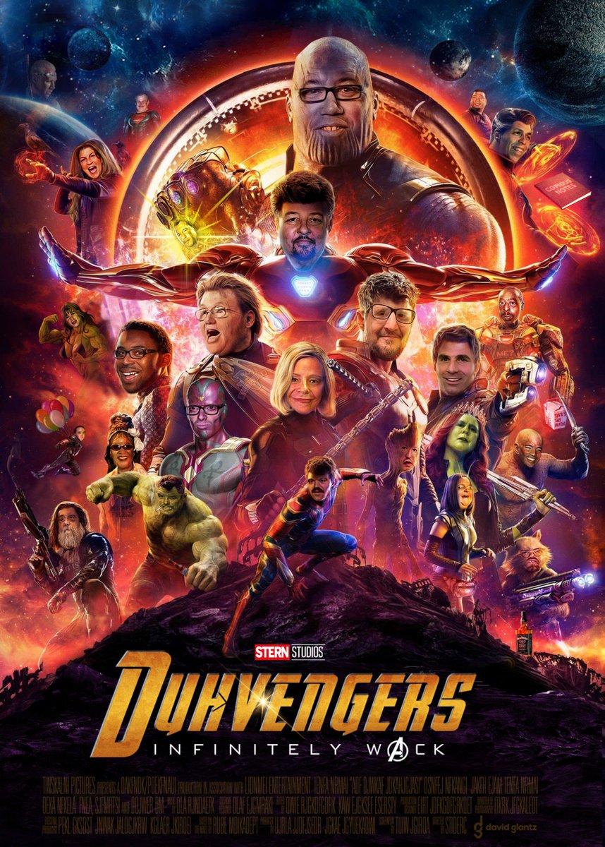 Tomorrow they assemble. God help us. @sternshow #DuhVengers #AvengersInfinityWar #WackPack #Marvel @JefftheDrunk1 @SourShoes @Beetlepimp @RealElephantboy @asktheking @man_speech @Erikbleam @AsianPete5 @krentcilp5 @ImMedicatedPete<br>http://pic.twitter.com/yi2EK99hFq