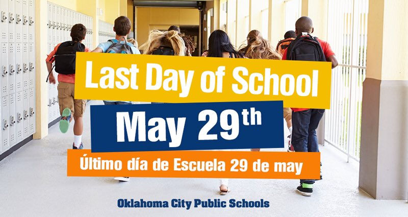 Image result for okcps last day of school