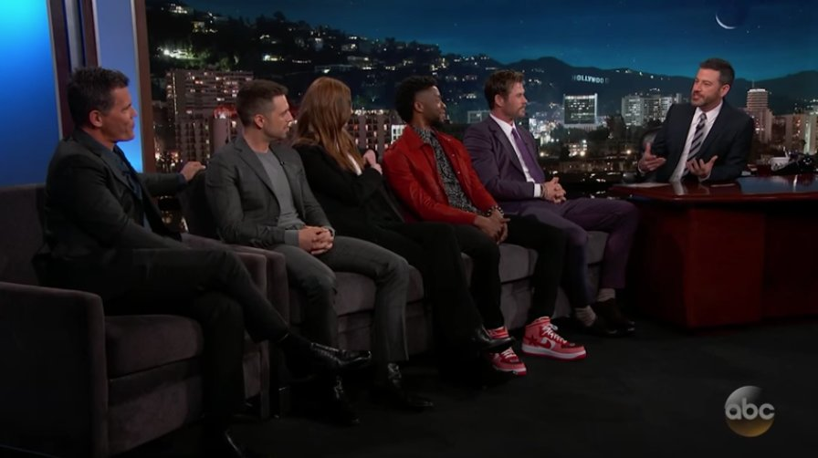Watch the #InfinityWar cast reject sequel spoilers on #Kimmel https://t.co/iO8PQh77nJ https://t.co/zKwwZ1O6gr