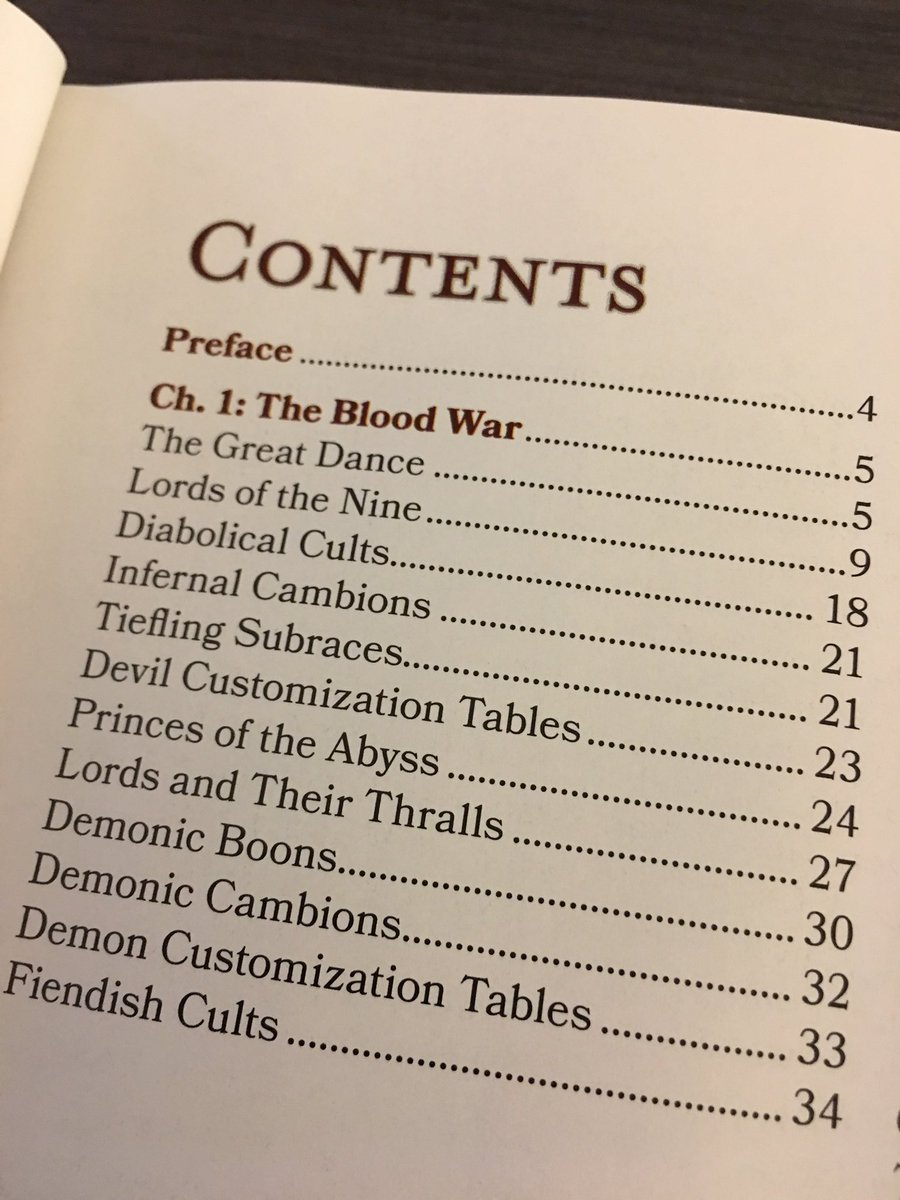 Blood War Table of Contents preview  From M's tome of Foes