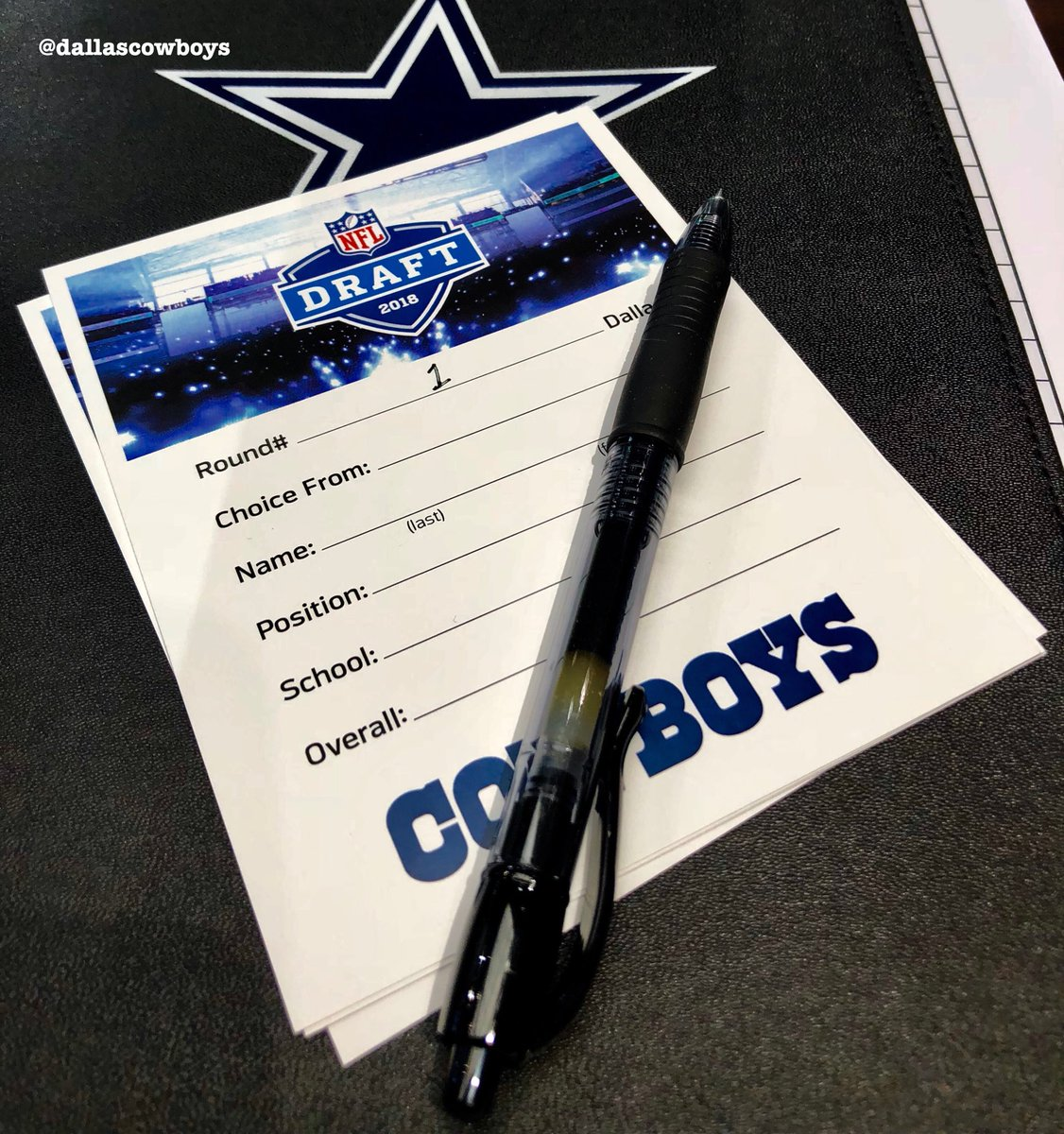 Who will it be? #CowboysDraft