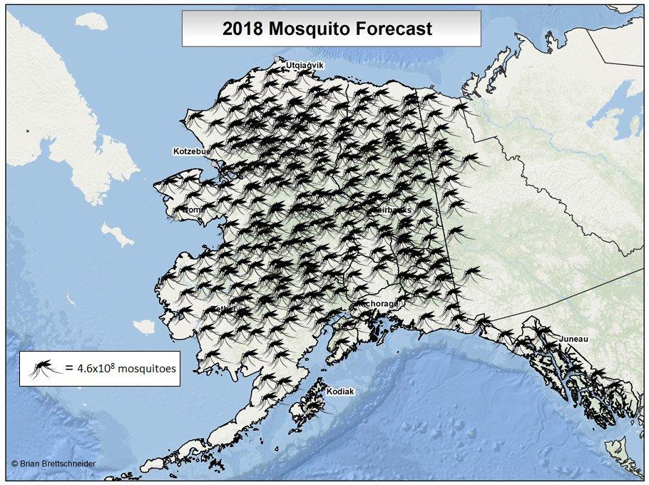 Brian Brettschneider On Twitter The 2018 Alaska Mosquito Forecast