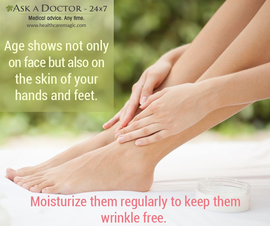 Largest Health Q&A site.  Ask a Doctor Online at     https://t.co/TwirbOHs9z   #age #skin #wrinkle #agingskin #face #hands #feet #moisturize#soothesskin#AskADoctor#dailyhealthtips#HealthcareMagic