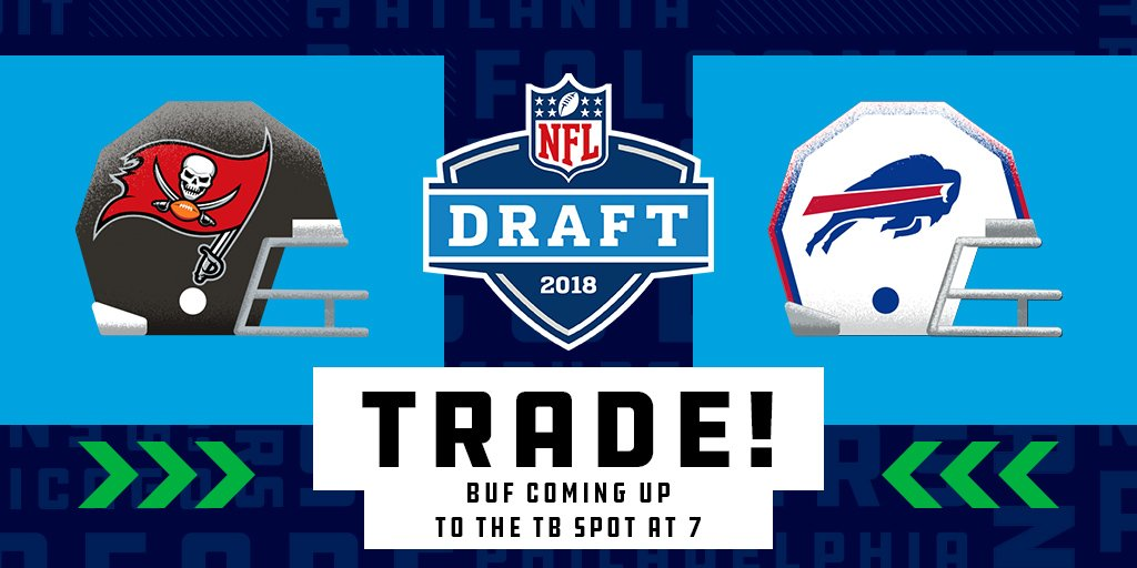 🚨🚨 TRADE ALERT! 🚨🚨  The @buffalobills have traded for the #7 pick with the @TBBuccaneers!   Tampa Bay receives the #12 pick and two second round picks#NFLDraft.