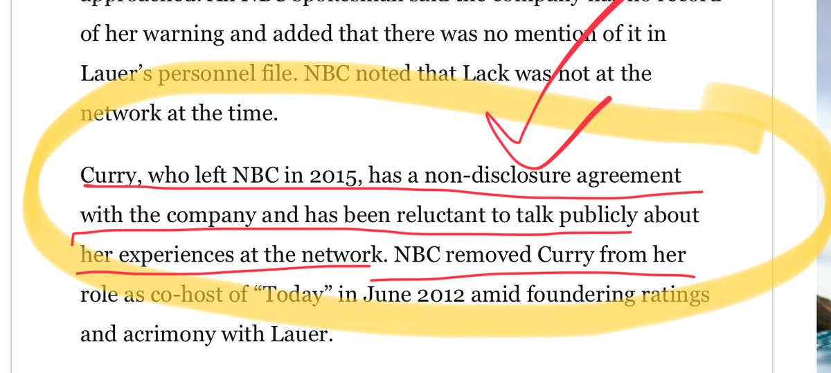 NBC (and other news orgs) must lift these NDA's and let employees talk..what are they hiding? —  these news organizations have a fit when govt hides things (which govt should not do) but why different rules for news organizations? Should they not likewise be transparent?