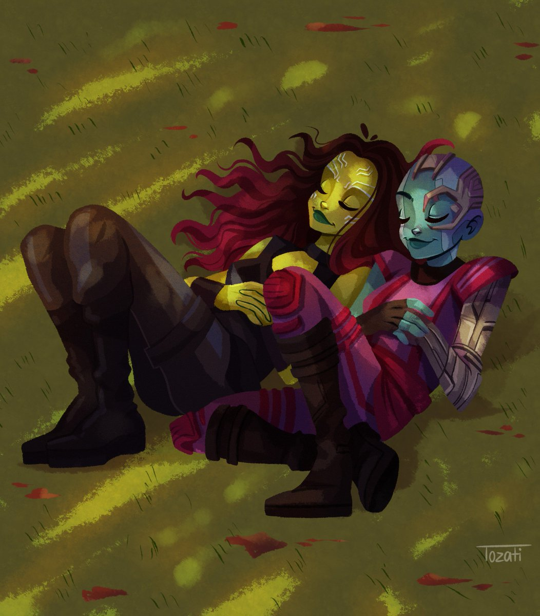 &quot;you will always be my sister.&quot;  #GuardiansoftheGalaxy  #Gamora  #marvel #fanart<br>http://pic.twitter.com/Wcz7SptlvA