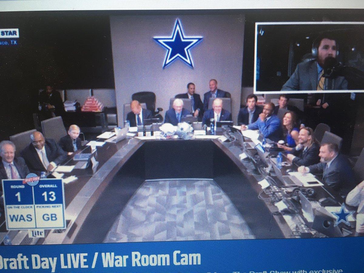 Live in Cowboys' war room: