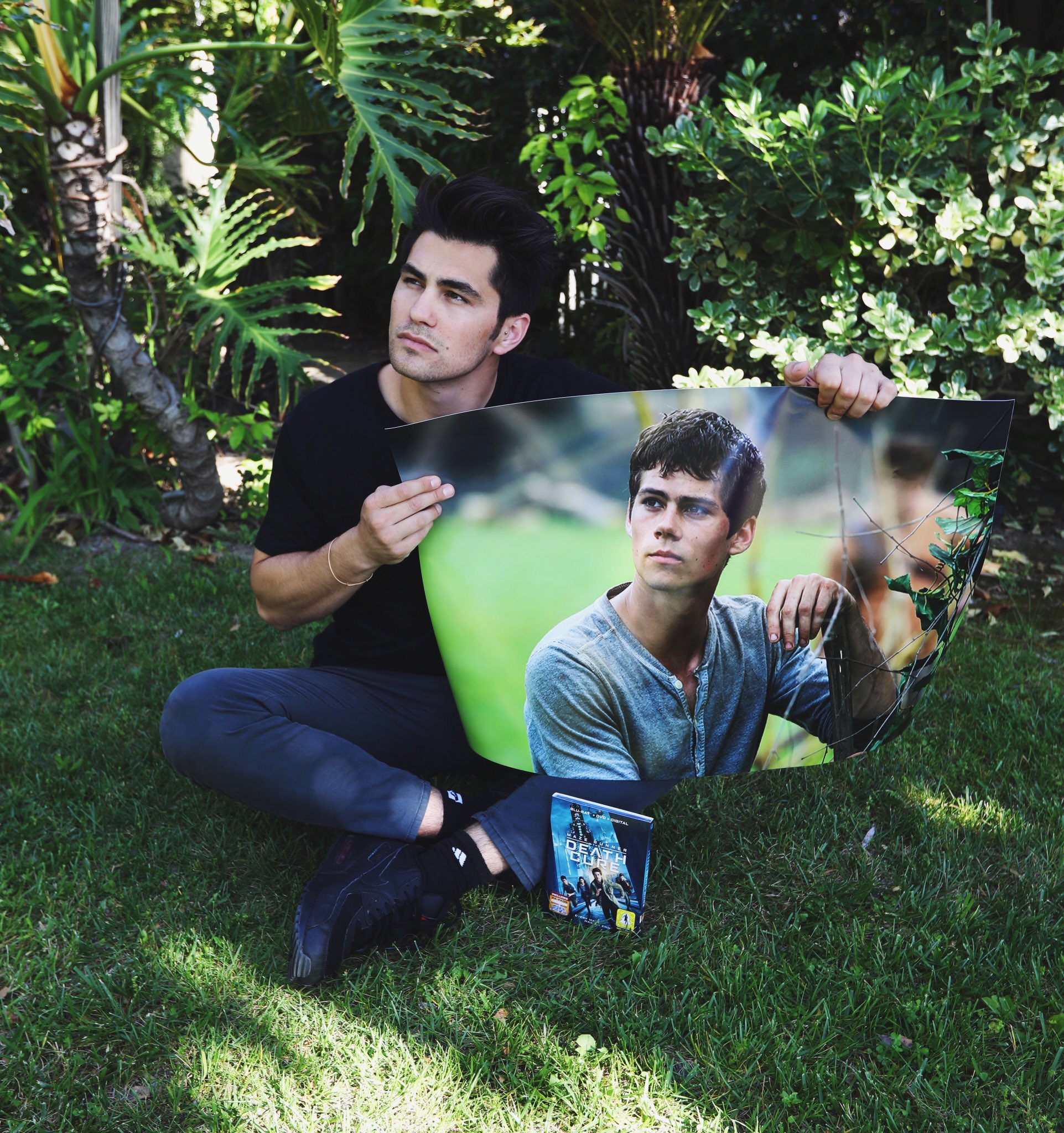 Toddy Smith: a cute photo of myself with a beautiful photo of Dylan O'Brien who stars in Maze Runner...