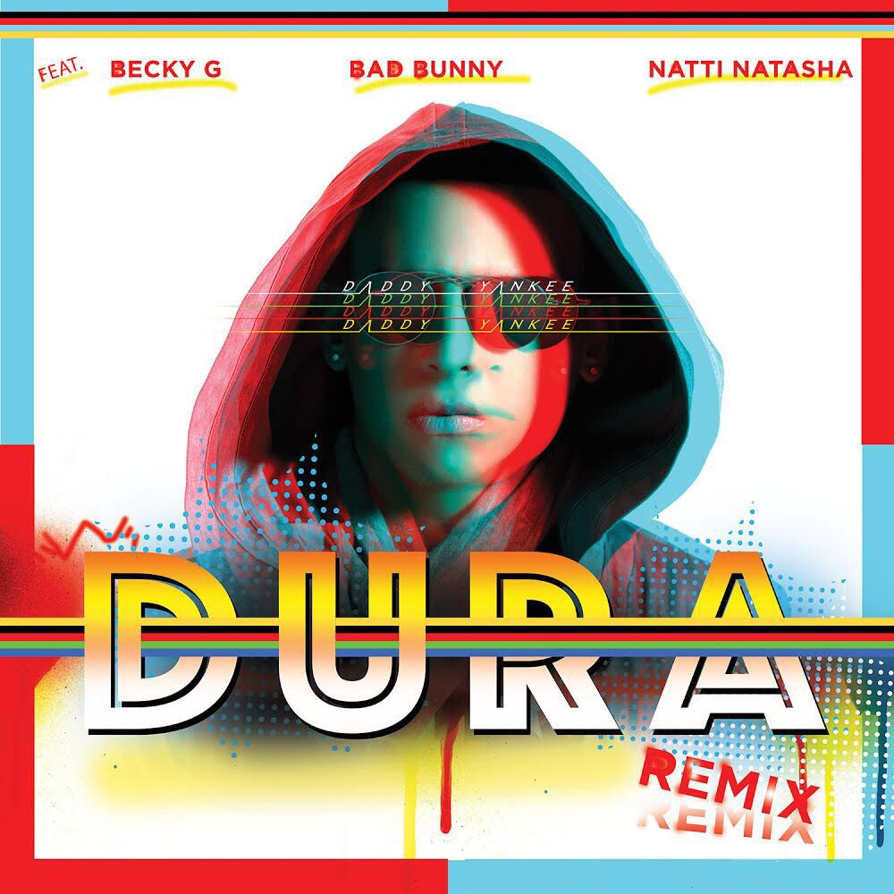 #DuraRemix available in all platforms at midnight! @badbunnyPR @NattiNatasha @iambeckyg