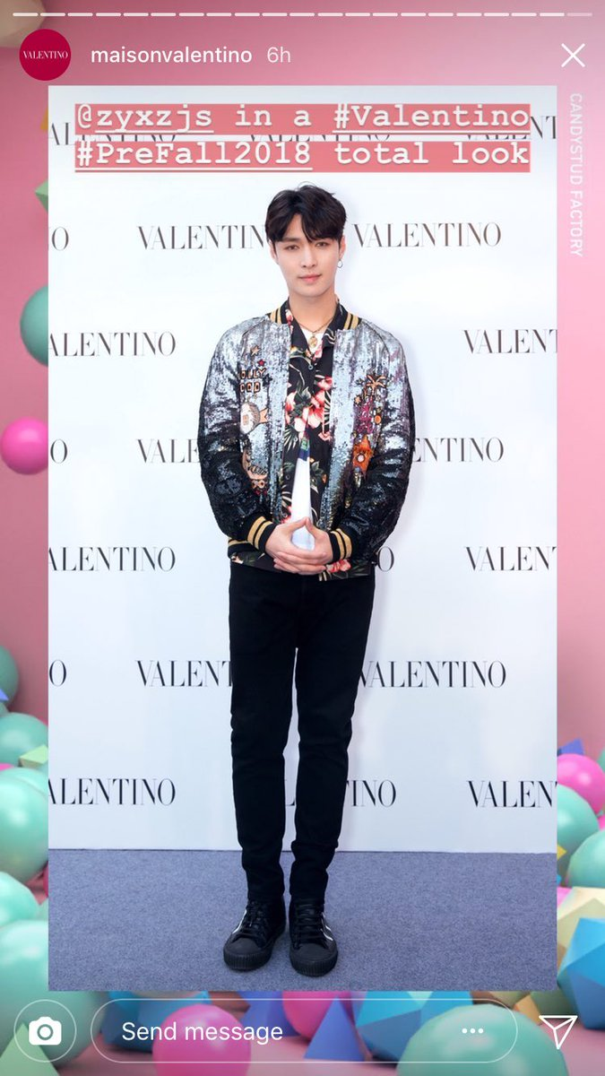 881b3158310d 180426  MaisonValentino instagram story update Greater China Valentino  Ambassador Zhang Yixing in VALENTINO Prefall2018 total look!