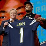 Image for the Tweet beginning: Chargers draft Florida State safety