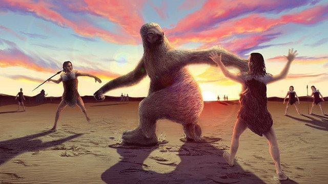 【足跡】古代人VS巨大ナマケモノ、死闘の様子が化石で判明 https://t.co/9DFUbHKgMz  3Dで分析したところ、人間がナマケモノの後ろから付けて対峙し、槍を投げていた可能性があるとみられている。