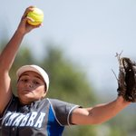 Image for the Tweet beginning: La Habra softball uses two