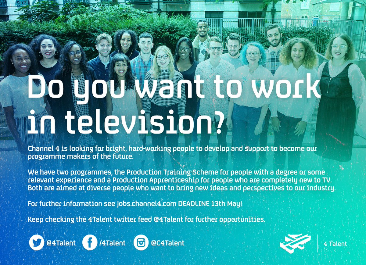 ee86819c597a Find out more: https://careers.channel4.com/4talent/training-scheme/production-training-scheme  …pic.twitter.com/eWpj9kuyIw