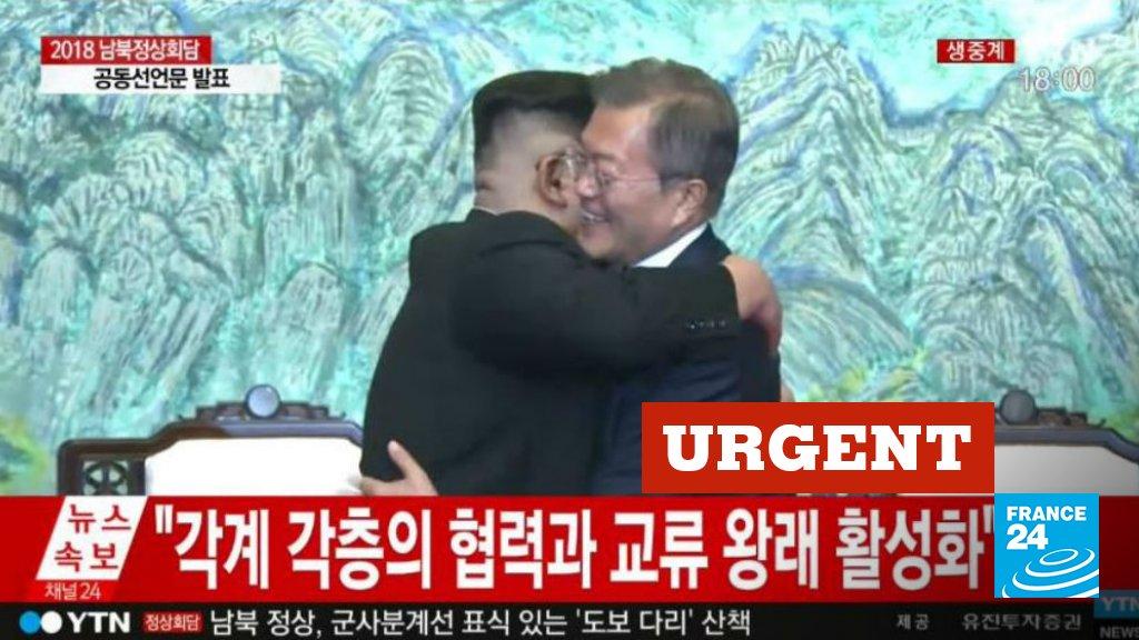 🔴 URGENT - 'Il n'y aura plus de guerre sur la péninsule coréenne': les deux Corées s'engagent en faveur de la paix à l'issue d'un sommet historique  https://t.co/IJbamgnayq
