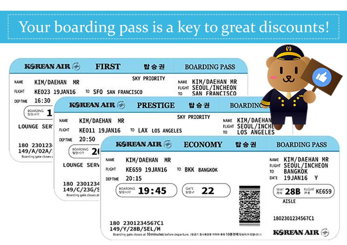 Korean Air On Twitter Your Boarding Pass Is A Key To Great