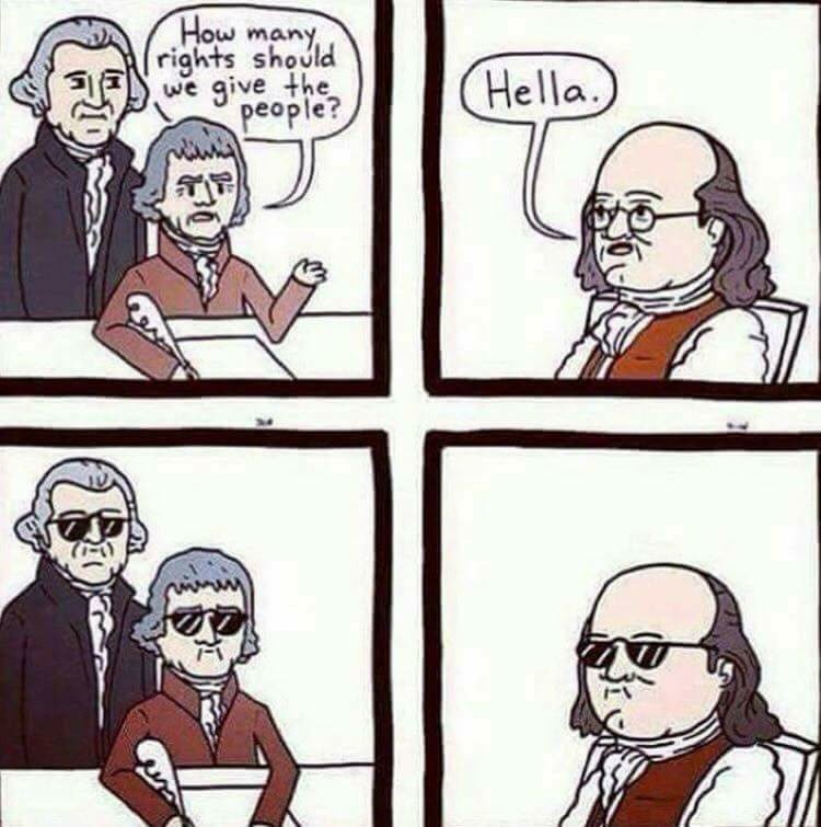 Hella rights  #Liberty #Freedom #Rights #BenFranklin<br>http://pic.twitter.com/XF8LX0zdnA