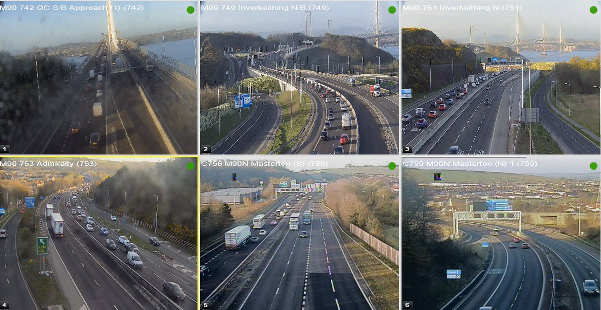 test Twitter Media - #M90 Morning traffic 06:45 ⌚️  Usual queuing this morning southbound, heading towards The Queensferry Crossing, with it busy from J1C Admiralty 😴  @SETrunkRoads @TheForthBridges https://t.co/0GLphgkoJ3