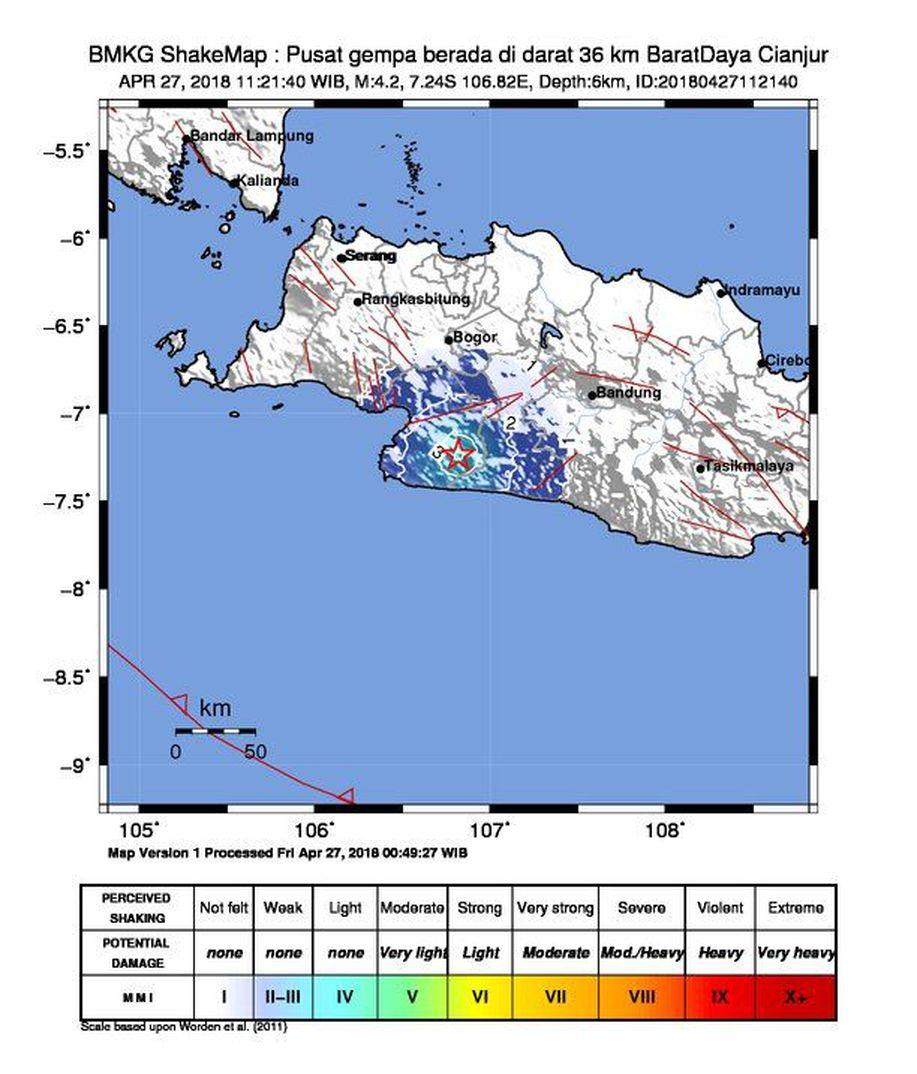 Gempa 4,2 SR Guncang Cianjur-Sukabumi https://t.co/ti5d44zQqc https://t.co/Ge2psVK1fe