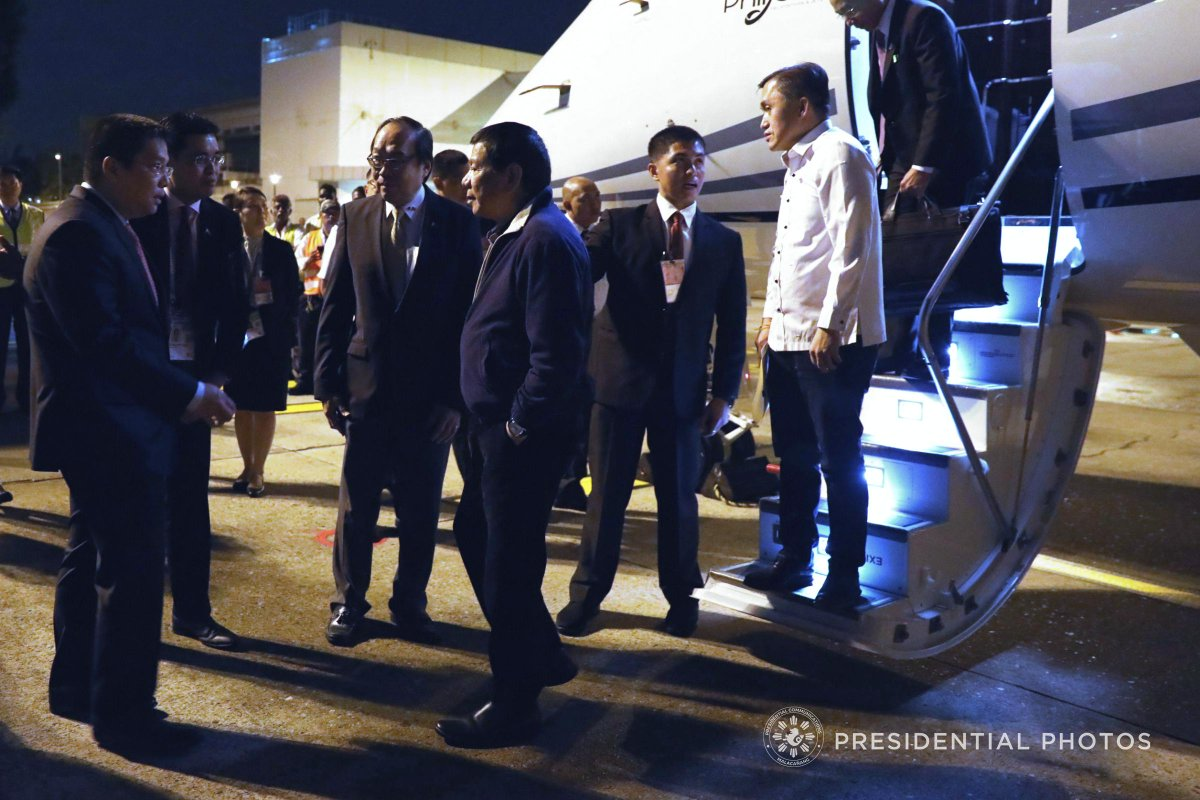 IN PHOTOS: (1/4) President Rodrigo Roa #Duterte at the 102nd Annual Communication of the Most Worshipful Grand Lodge of the Free and Accepted Mason in the Philippines, Departure at the Davao International Airport and Arrival in Singapore.