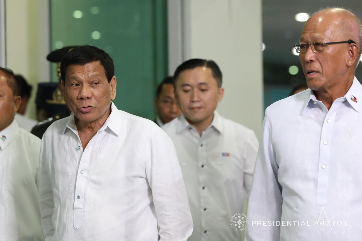 IN PHOTOS: (2/4) President Rodrigo Ro #Dutertea  at the 102nd Annual Communication of the Most Worshipful Grand Lodge of the Free and Accepted Mason in the Philippines, Departure at the Davao International Airport and Arrival in Singapore.