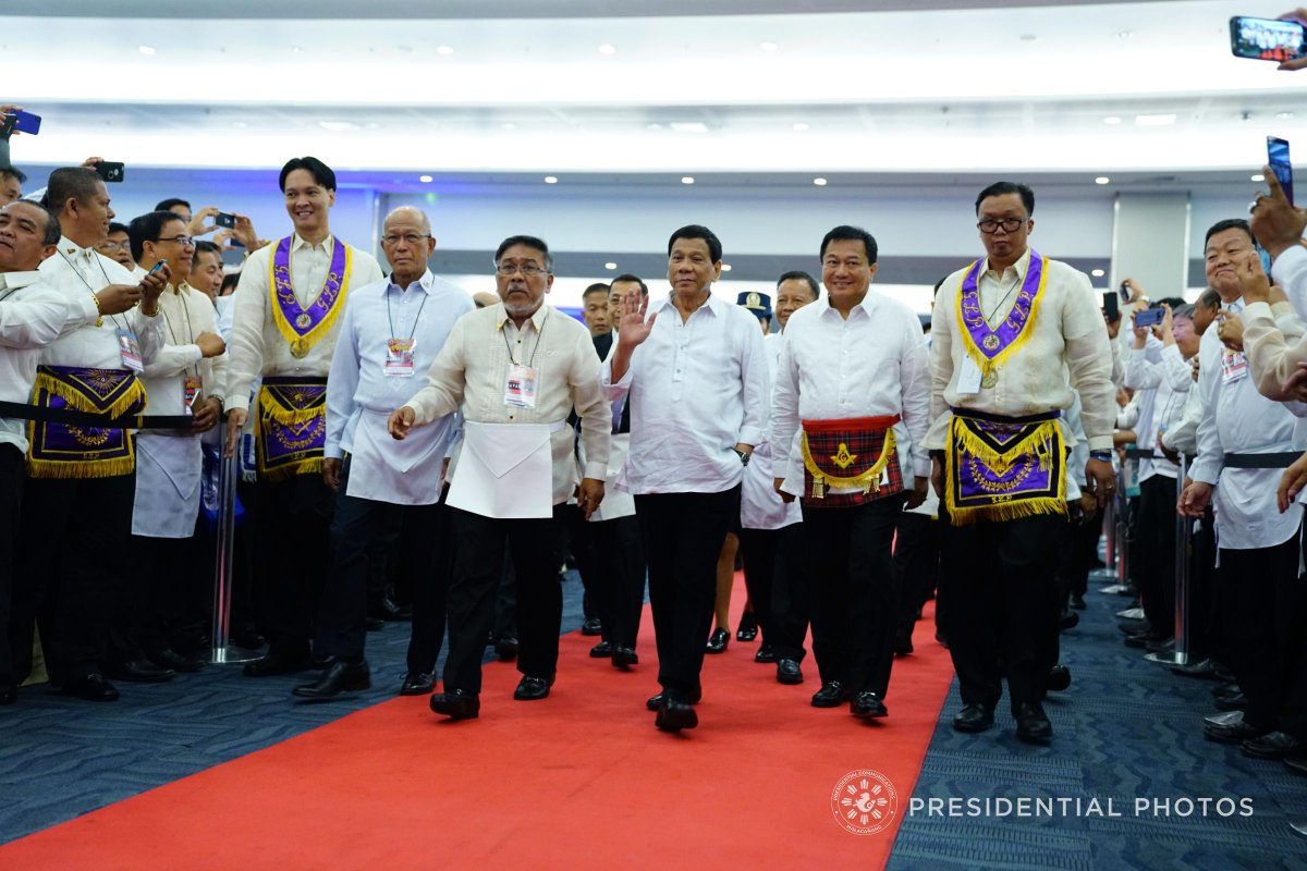 IN PHOTOS: (3/4) President Rodrigo Ro #Dutertea  at the 102nd Annual Communication of the Most Worshipful Grand Lodge of the Free and Accepted Mason in the Philippines, Departure at the Davao International Airport and Arrival in Singapore.