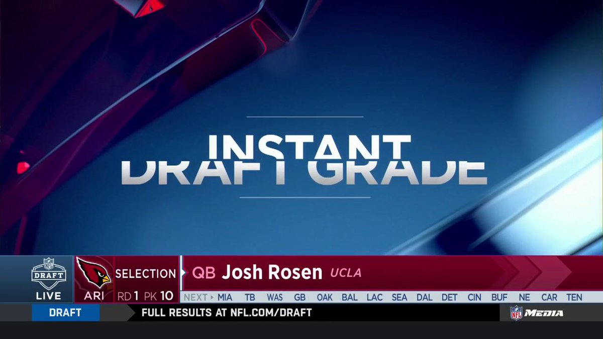 Well, you can't get a much higher grade than that. #CardsDraft  Coverage on NFL Network/FOX