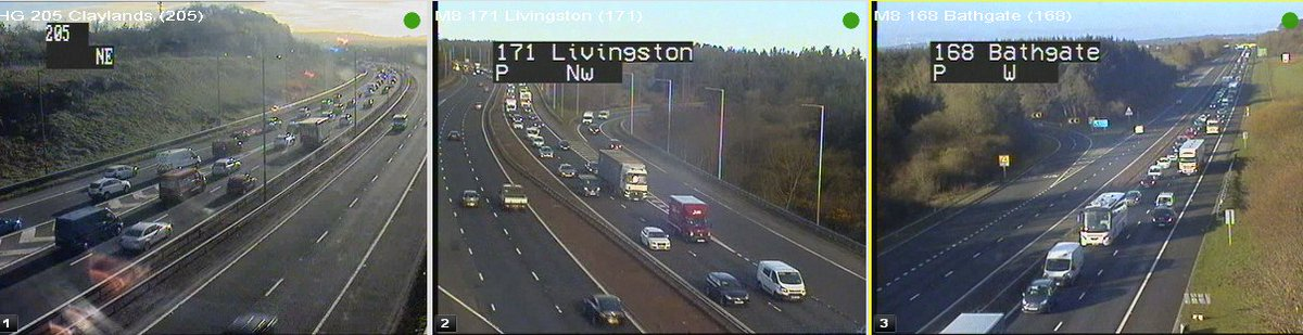 test Twitter Media - #M8 Eastbound towards Edinburgh 07:45 ⌚️  Traffic is looking busy this morning with it slow from J3A Bathgate to J3 Livingston and J2 Claylands towards Hermiston Gait 😴  @SETrunkRoads #edintravel 🚙 https://t.co/oK6hcAc5aW