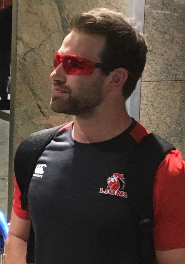 Lions scrumhalf Nic Groom preparing for the flight to Australia where the Lions made use of SleepSpec to help keep their bodies on South African time to avoid the effects of jetlag.
