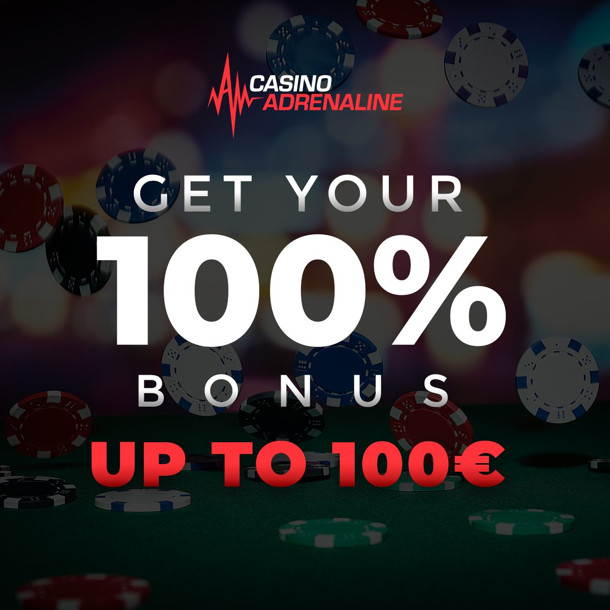 test Twitter Media - This Sunday challenge your luck with 100% bonus up to 100 EUR. 50x bonus and deposit! 😉😎#CasinoAdrenaline #TotalJackpot #CasinoAdrenalingaming #casinos #slot #casinoluck #enjoythegame https://t.co/6w2i0Qe1TE
