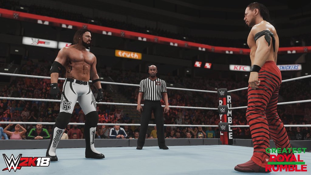 Going to show @ShinsukeN once again who the champ is at #WWEGRR. #WWE2K18 @WWEgames #ad