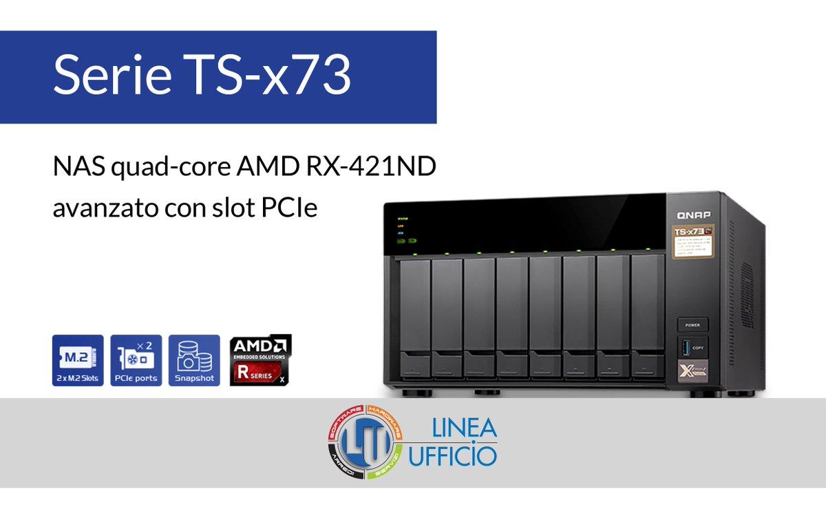 Qnap Hashtag On Twitter Ts 228 2 Bay Nas Server External Storage Presenta Il Della Serie X73 A 4 6 8 Vani Con Processore Quad Core Amd R Series Due Slot Ssd Sata M2 E Pcie Per Aggiungere