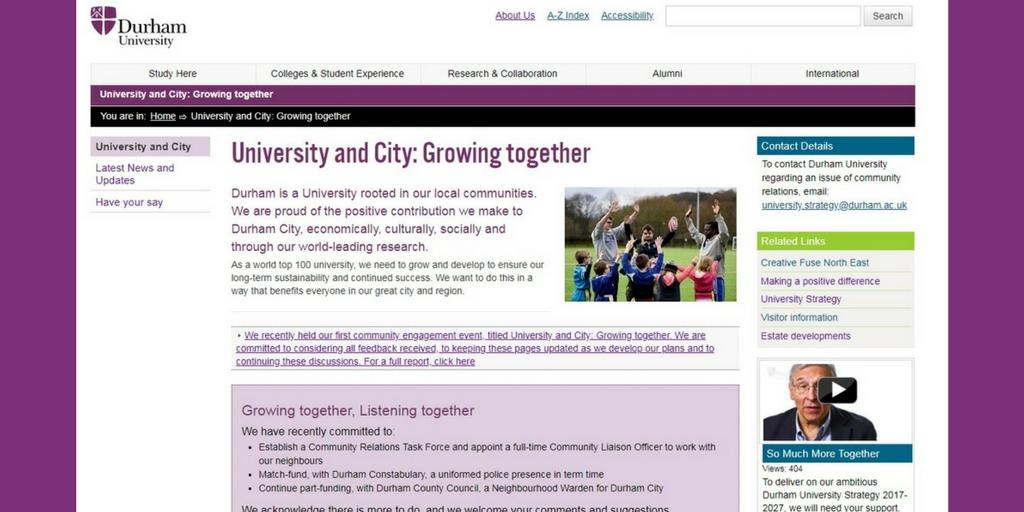 Durham University On Twitter Visit Our New Community Web Pages