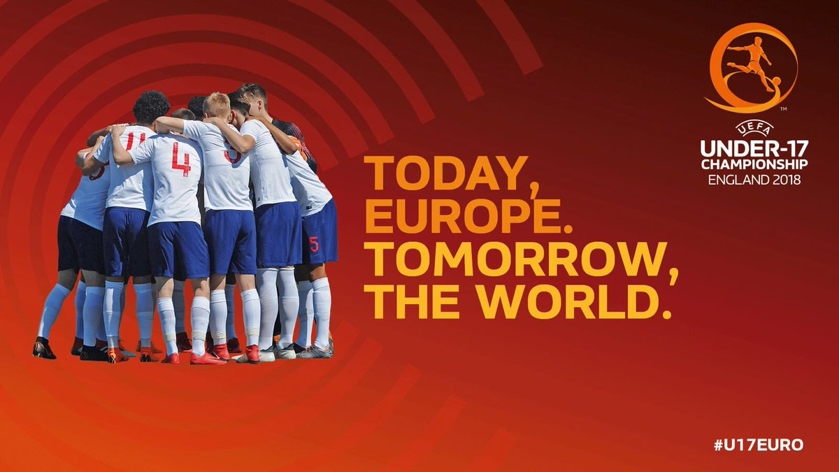 1 WEEK TO GO! England will kick-off the #U17EURO against Israel next Friday 4 May, 7pm at Chesterfield Get tournament tickets here: bit.ly/2Iqxumy