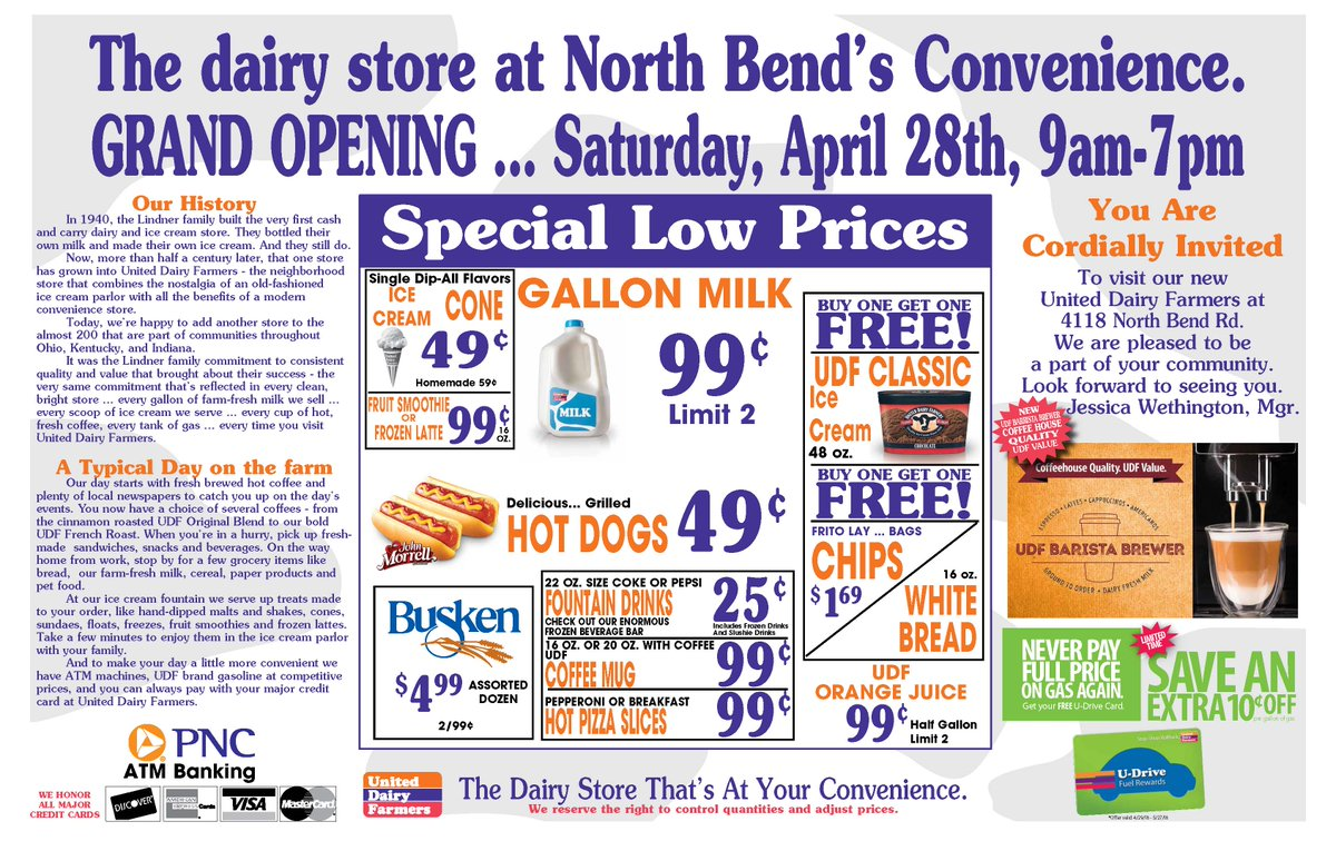United Dairy Farmers On Twitter Come See Our Newest Spot At 4118
