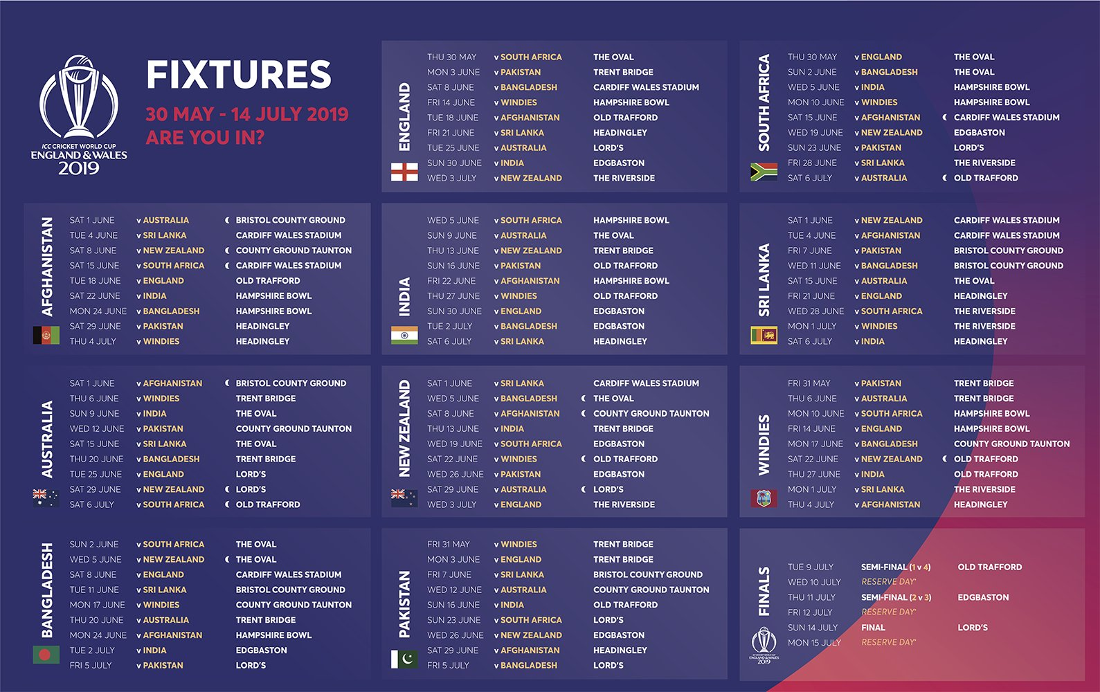 icc on twitter   u0026quot you u0026 39 ve seen the  cwc19 fixtures  now make sure you get your tickets  the