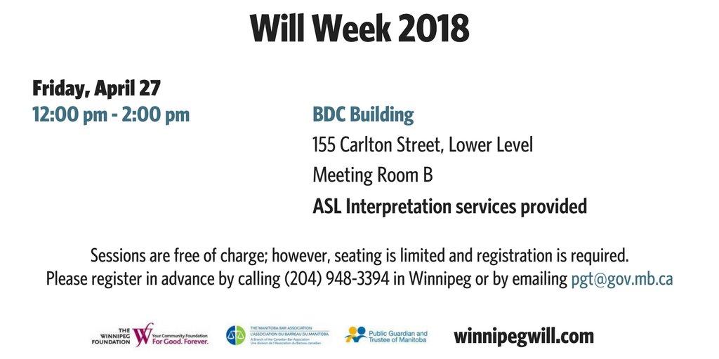 WpgWillWeek hashtag on Twitter