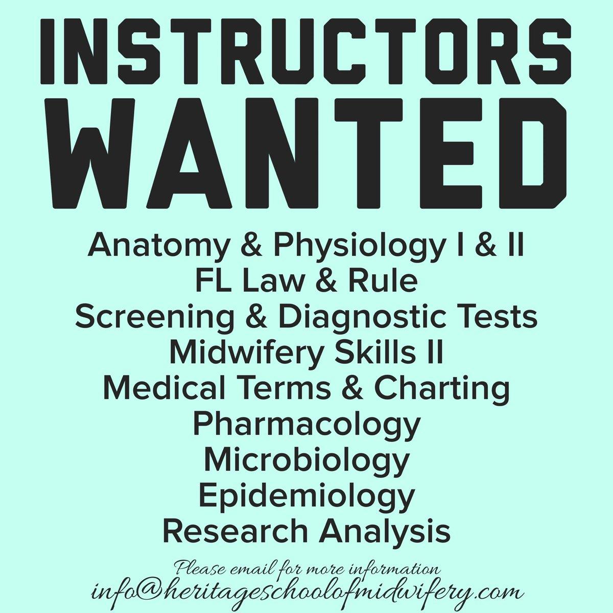 Heritage School of Midwifery (@FL_CPM_School) | Twitter
