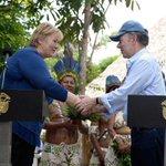 Image for the Tweet beginning: President Juan Manuel Santos of