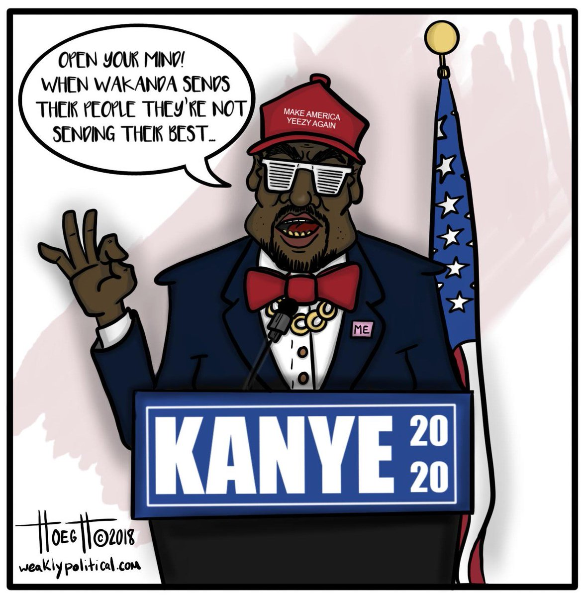"""Weakly Political on Twitter: """"In 2020, Kanye's gonna be like: """"8 ..."""