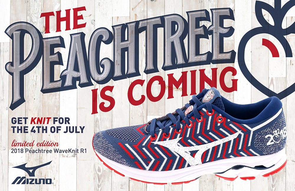 64d0a7c82a3d The 2018 Limited Edition Peachtree WAVEKNIT® R1 has officially made its  patriotic debut! Available NOW at http://www.mizunousa.com .