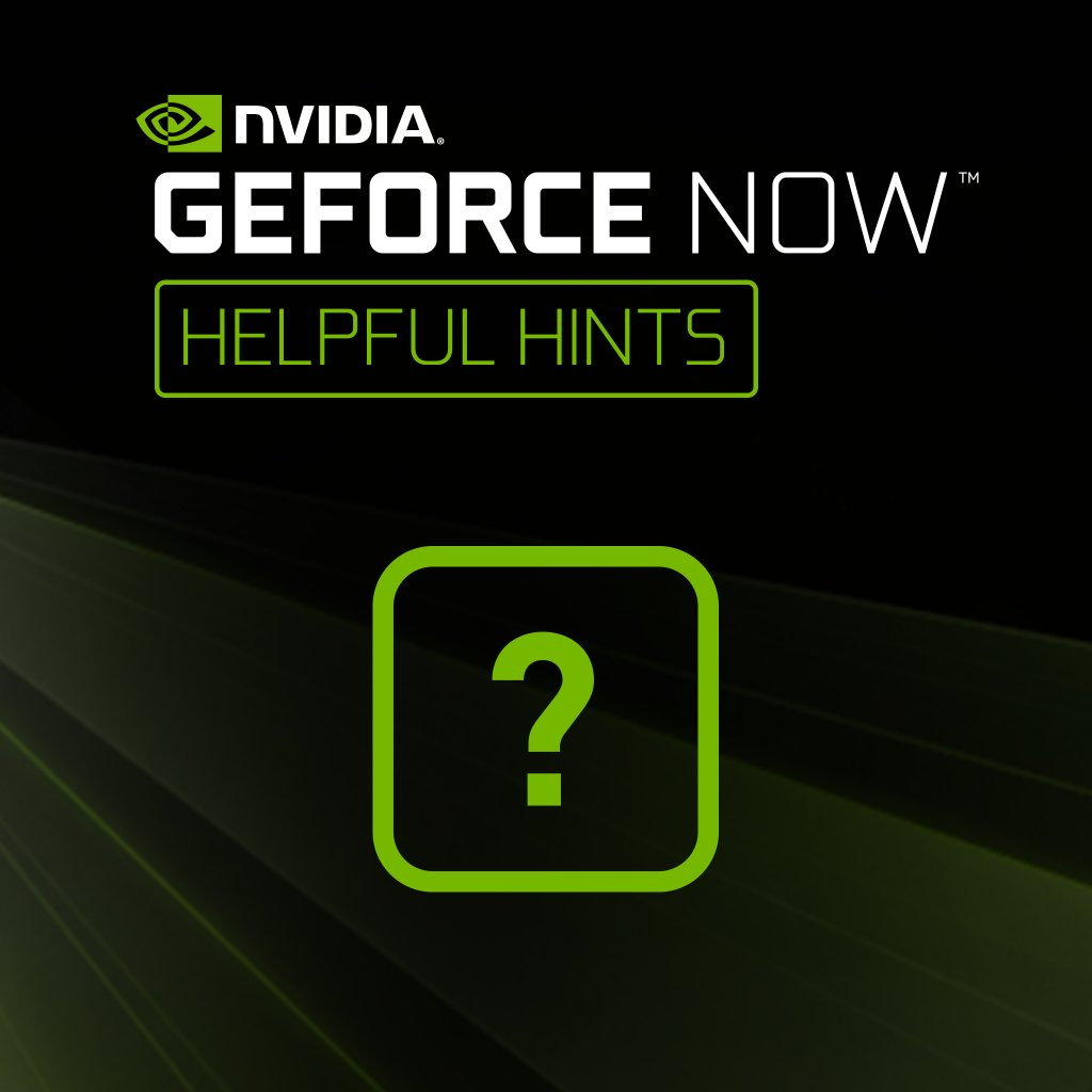 NVIDIA GeForce NOW on Twitter:
