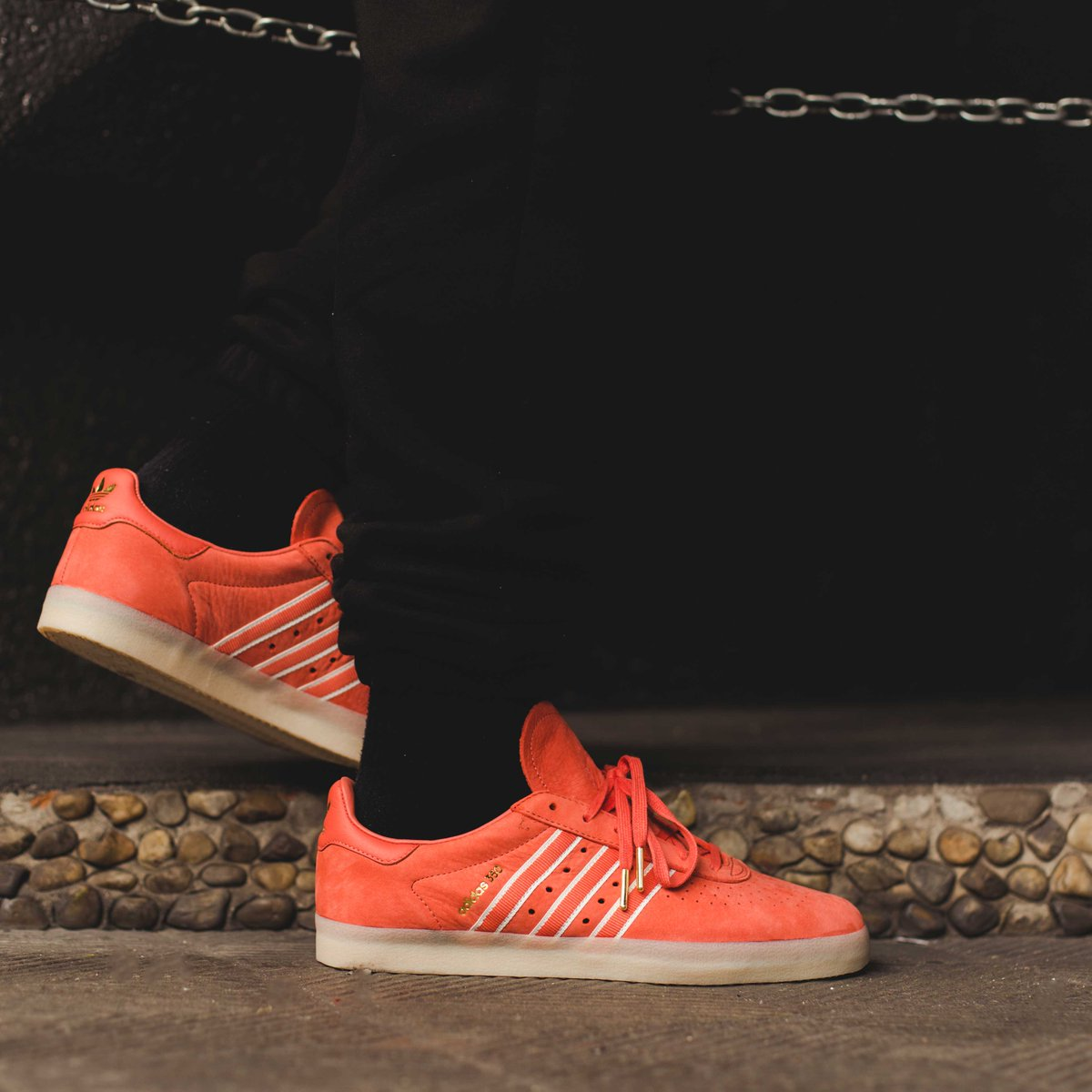 official photos f30d2 16d8b You traveling adidas x Oyster Holdings 350 in Trace Scarlet with gold foil  branding. In store  online httpow.lynVW030jInpO ⠀⠀⠀⠀ adidasoriginals  ...